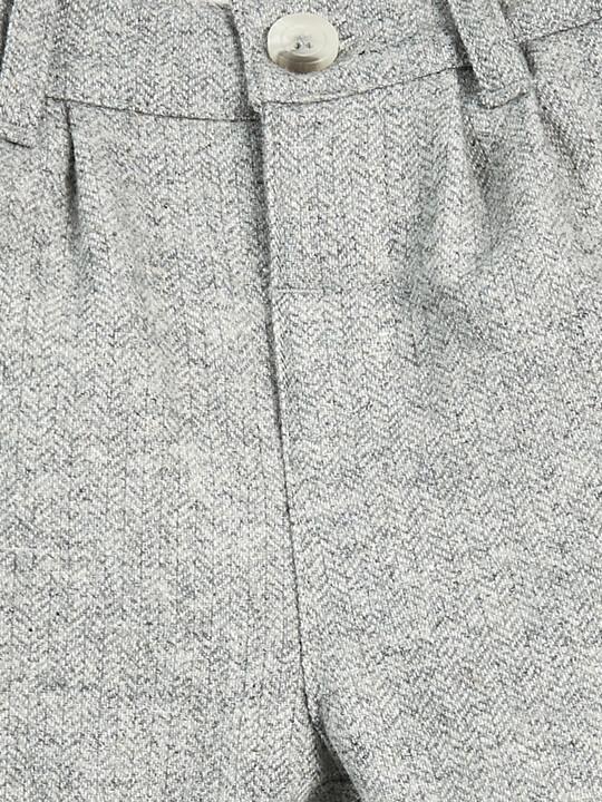 بنطال بنقشة هيرنغ بون - رمادي image number 3