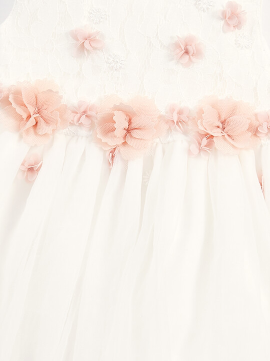 فستان بنقشة زهور ثلاثية الأبعاد image number 3