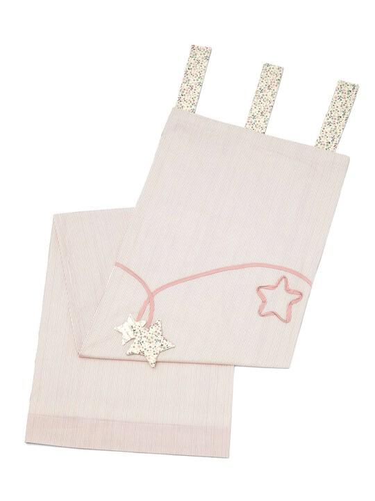 ستائر مبطنة ذات ربطات علوية باللون الوردي من Millie & Boris - (العرض: 132 × الطول: 160 سم) image number 1