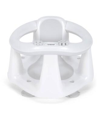 مقعد استحمام بيضاوي - أبيض/رمادي