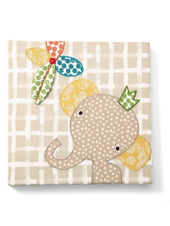 لوحة الفيل المطرزة الكتانية من Zam Bee Zee image number 3
