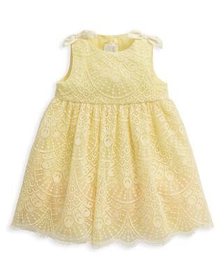 فستان دانتيل أصفر