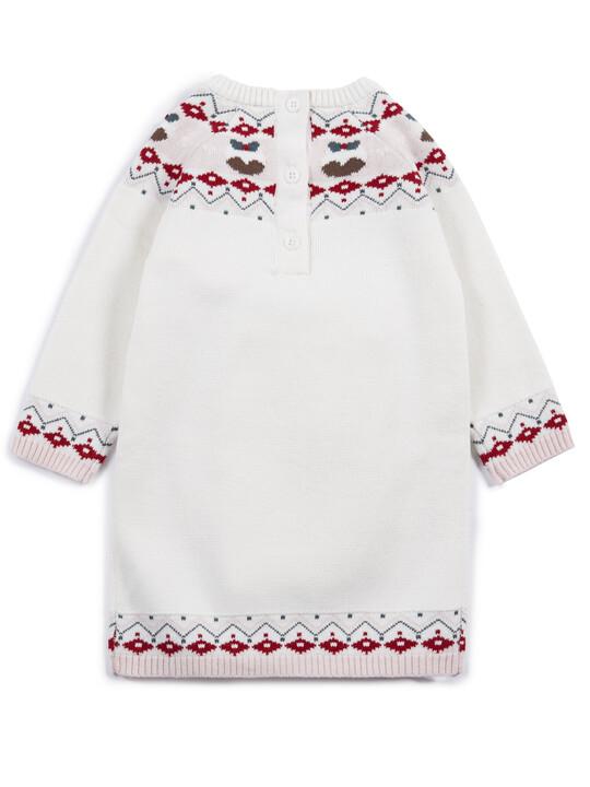 فستان كريسماس بنقشة فير أيل image number 2