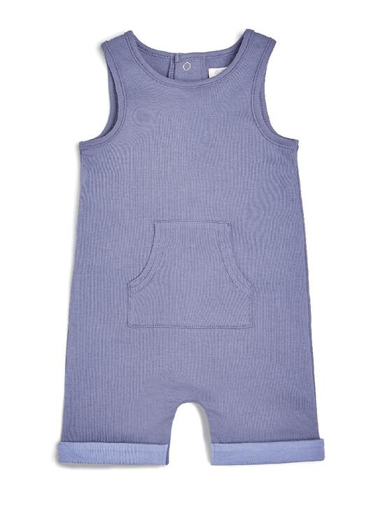 طقم لباس قطعة واحدة بطبعة كائنات بحرية ورومبر وصدرية وقبعة، 4 قطع image number 2
