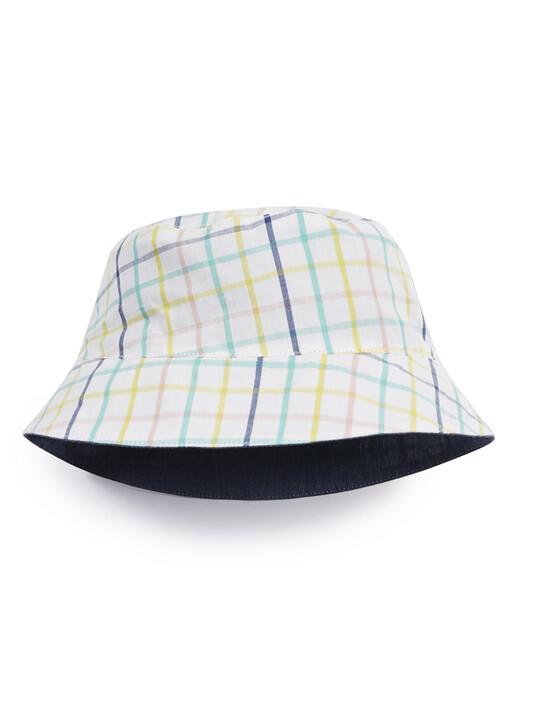 قبعة مخططة وبنقشة مربعات image number 1