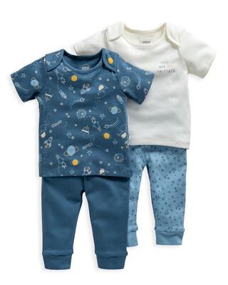 Space Print Jersey Pyjamas 2 Pack