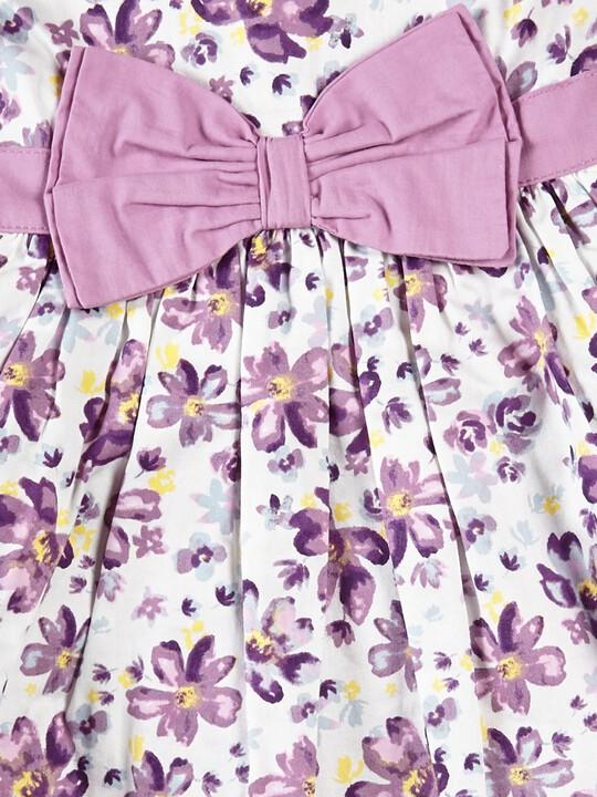 فستان بنقشة زهور مزين بعقدة على الخصر image number 2