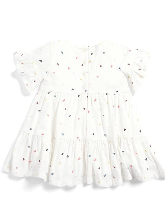 فستان بطبعة قلوب image number 2