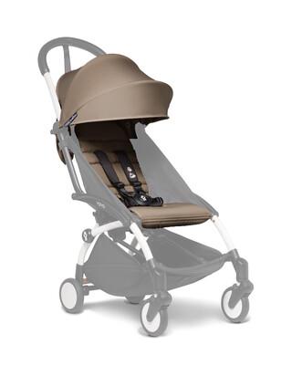 مجموعة مقعد عربة أطفال يويو لعمر 6 أشهر فأكثر - بني فاتح