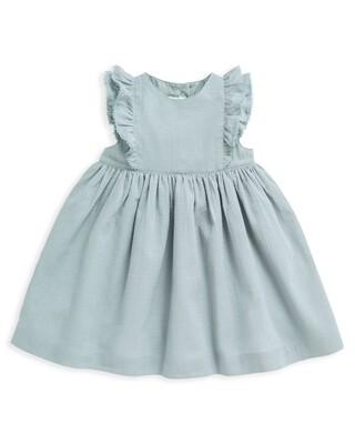 فستان منسوج بكشكش