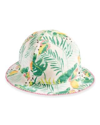 قبعة بوجهين مزينة بنقشة استوائية