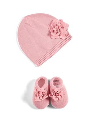 طقم قبعة وبوت بتصميم جوارب بتصميم منسوج