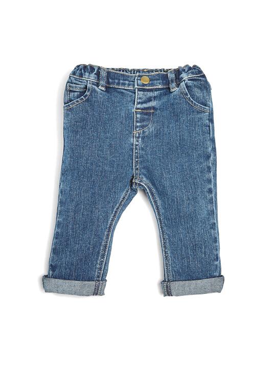 بنطال جينز وقميص وفيست - طقم 3 قطع image number 4