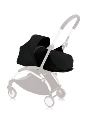 مجموعة مقعد عربة أطفال يويو لحديثي الولادة - أسود