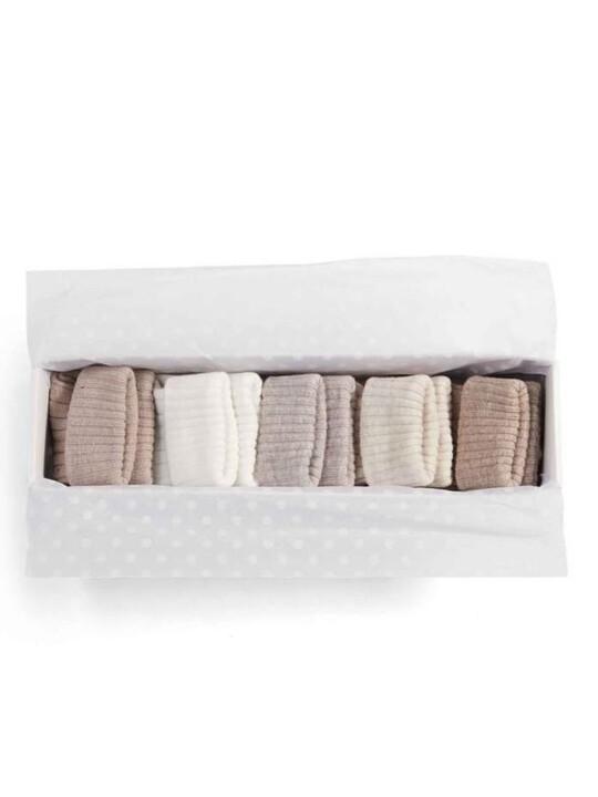 صندوق هدايا جوارب بألوان بنية - 5 أزواج image number 2