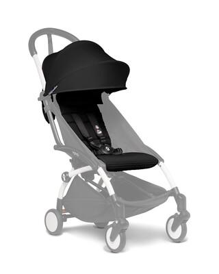 مجموعة مقعد عربة أطفال يويو لعمر 6 أشهر فأكثر - أسود