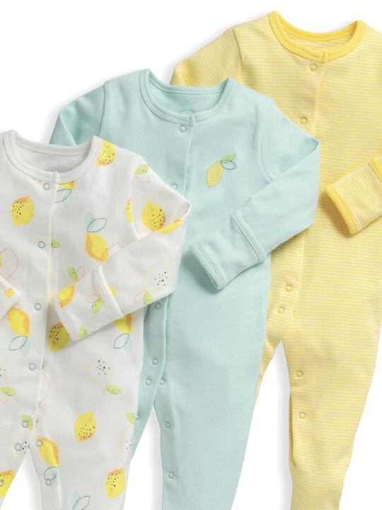 Lemon Sleepsuits 3 Pack image number 4