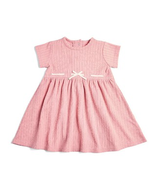 فستان جيرسيه بأكمام قصيرة