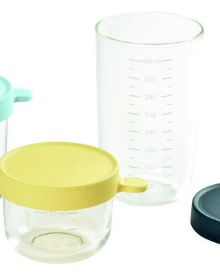 Beaba Conservation Jar Glass Set of 3 150ml / 250ml / 400ml