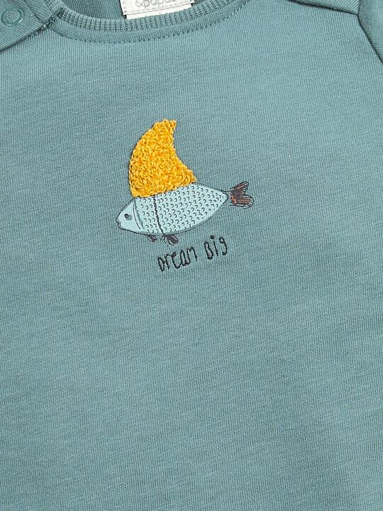 تي شيرت بطبعة سمك image number 3