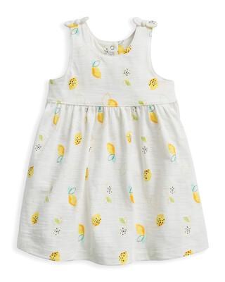 فستان جيرسيه بنقشة ليمون
