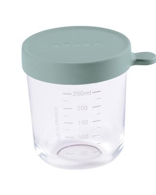 Beaba Conservation Jar Glass 250ml Eucalyptus Green