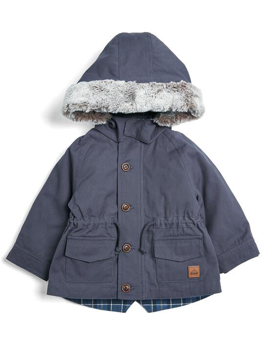 معطف باركر 2 في 1 - كحلي image number 1