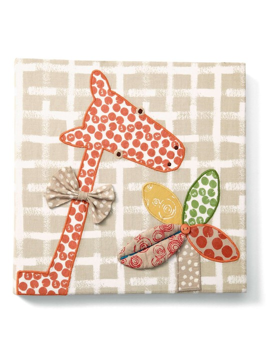 لوحة الزرافة المطرزة الكتانية من Zam Bee Zee image number 1